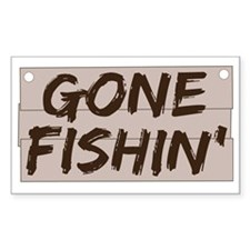 gone fishin_dark Decal