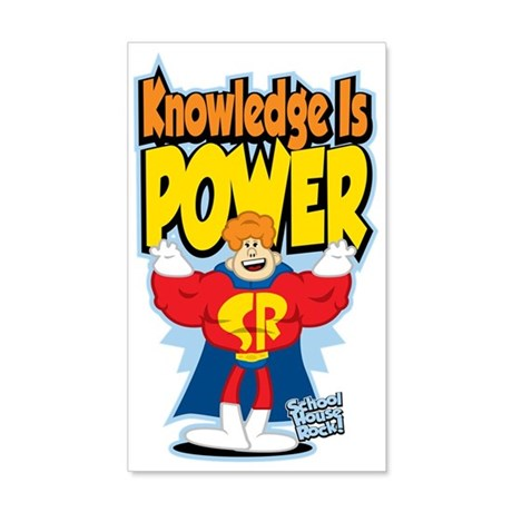 Knowledge-Is-Power 35x21 Wall Decal