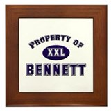 Property of bennett Framed Tile