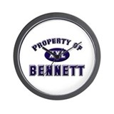 Property of bennett Wall Clock