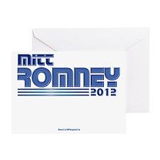 Mitt Romney 2012 dark Greeting Card