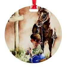 Cowboy praying Ornament