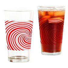 candycane Drinking Glass