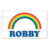 ROBBY (rainbow) Rectangle Decal