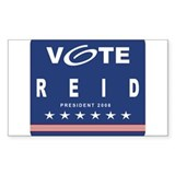 Vote Reid Rectangle Decal