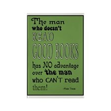 twain green 10x14 Rectangle Magnet