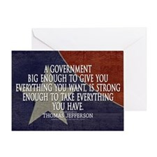 Big Government Quote Greeting Card