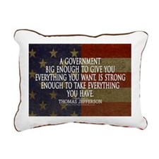 Big Government Quote Rectangular Canvas Pillow