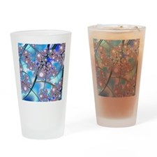 Spring Blossoms Fractal Drinking Glass