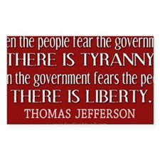 Jefferson Quote Liberty Decal