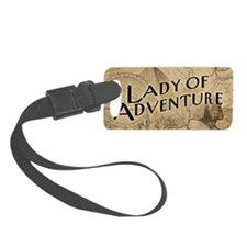 lady-of-adventure_11x18h Luggage Tag