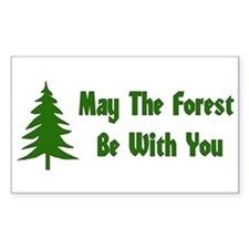 May The Forest Be With You Rectangle Decal