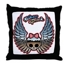 molly-chr-wing-T Throw Pillow