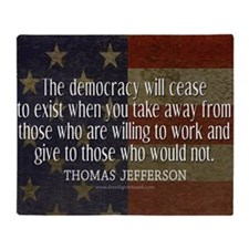 Democracy Quote Throw Blanket