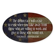 Democracy Quote Decal