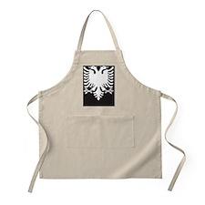 Albanian Eagle White on Black iPhone Case 3G Apron