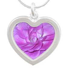 Lavender Rose iPhone 4 Slide Silver Heart Necklace