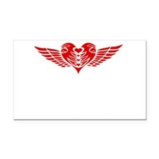 mothers-love-wing-wht Rectangle Car Magnet