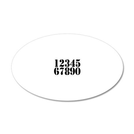 race-numbers-1-0 20x12 Oval Wall Decal