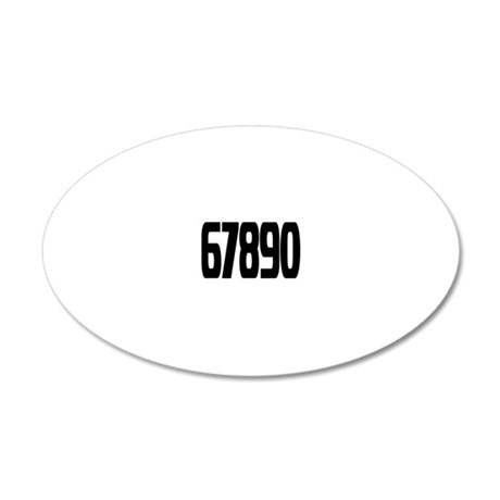 racing-numbers6-0 20x12 Oval Wall Decal