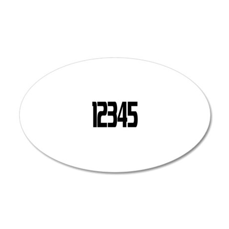 racing-numbers1-5 20x12 Oval Wall Decal