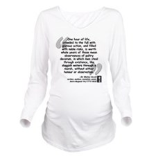Scott Action Quote Long Sleeve Maternity T-Shirt