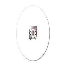 BoneCross_iphone_slider 20x12 Oval Wall Decal