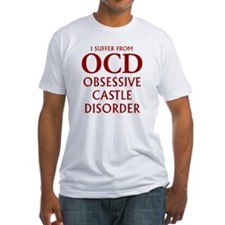 ocd4 clear red Fitted T-Shirt