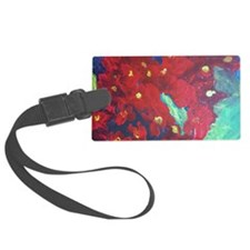Red Flowers Luggage Tag