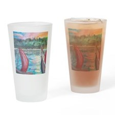 sailboats Drinking Glass