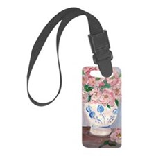 Pink Flowers Luggage Tag