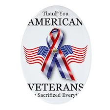 American Veterans 3 Oval Ornament