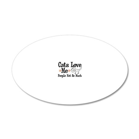 catsloveme 20x12 Oval Wall Decal