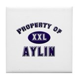 Property of aylin Tile Coaster