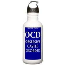 ocd3g blue Water Bottle