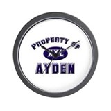 Property of ayden Wall Clock
