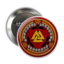"Red Rune Set 2.25"" Button"
