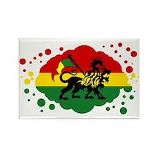 Rasta Lion of Jah Rectangle Magnet
