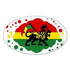 Rasta Lion of Jah Decal