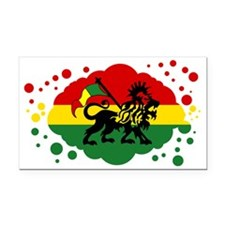 Rasta Lion of Jah Rectangle Car Magnet