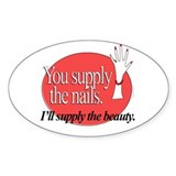 Manicurist Beauty Oval Decal