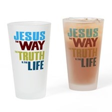 Jesus The Way The Truth & The L Drinking Glass