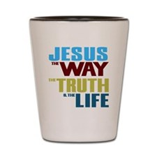 Jesus The Way The Truth & The Life Shot Glass
