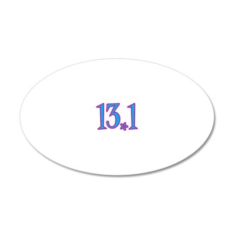 13.1 with flower 20x12 Oval Wall Decal