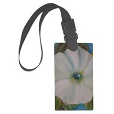 Large White Flower Luggage Tag