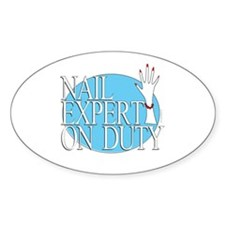 Nail Expert Duty Oval Decal