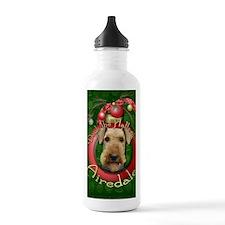 DeckHallsAiredales Water Bottle