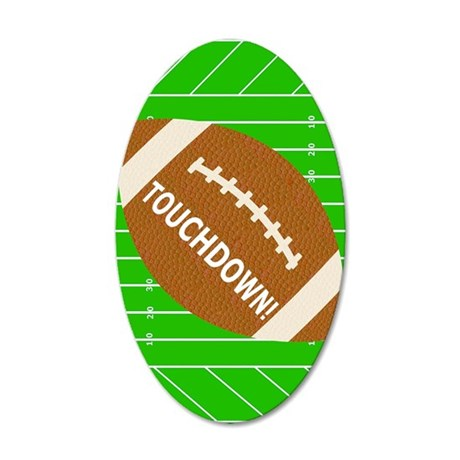 Football Theme iPad Hard Cas 35x21 Oval Wall Decal