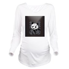 _heartcharmGrey Tone Long Sleeve Maternity T-Shirt