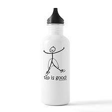 tap is good black Water Bottle